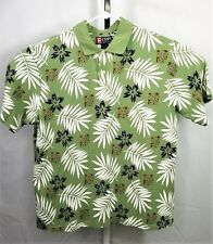 Vintage Chaps Ralph Lauren Green Polo Shirt Size XXL Hawaiian Rugby Shirt Mens