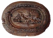 Médaillon En Bas Relief, Marie Madeleine Vanité, Bois Sculpté, XVII ème,