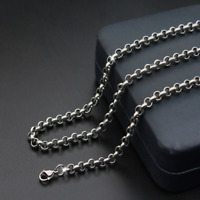 Hot Gift Man Women 316L Stainless Steel 2mm/3mm/4mm/5mm Silver O-Chain Necklace