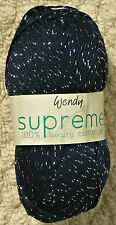Knitting Wool 100g Supreme Sparkle Cotton DK Double Knitting Knitting Wool Yarn