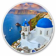 More details for 2 x vinyl stickers 20cm - santorini greece greek travel beach cool gift #24142
