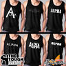 Gym Rabbit Gym Men Muscle TShirts Tank Cotton Sleeveless Workout ALPHA 575-580
