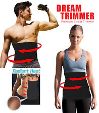 WAIST TRIMMER SLIMMING EXERCISE BELT FAT BURNER  WITH SILVER  REFLECTIVE COATING