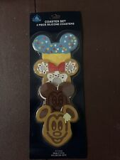 4 NIP Disney Parks SNACK FOOD COASTER SET-Mickey Mouse-Minnie Mouse