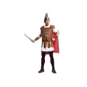 Costume Carnevale Gladiatore per uomo taglia M-L, tunica e mantello