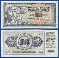 JUGOSLAWIEN / YUGOSLAVIA 1000 Dinara 1978 (Guverne) UNC  P.92 a