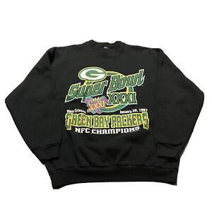 VTG 1997 Youth Green Bay Packers NFL Super Bowl XXXI Crewneck Sweatshirt Sz XL