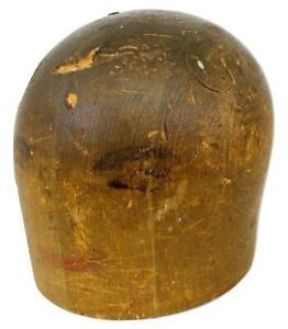 Antique Art Deco Flapper Cloche Ladies Millinery Wood Hat Form Puzzle Mold Block