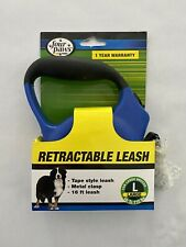 Four Paws Classic Retractable Leash ~ Large - Blue - 16 FT TAPE STYLE ~ **NEW**