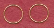 Gold Plated Sterling Silver Sleepers Earrings Hinged 20mm New Sleeper set hoops