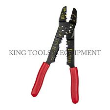"""New KING 9.5"""" CRIMPING TOOL, Electrical Wire Cable Strippers Cutters Re-Threader"""