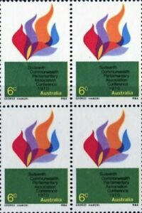 Australian MNH 1970 Block 4x 6c 16th Cwlth Parliamentary Conference Stamps Issue