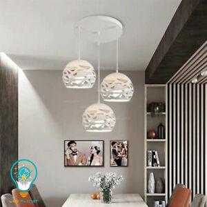 Lampadario a sospensione soffitto moderno sospeso design a sfere bianco E27 220v