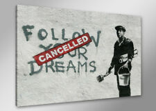 Bilder auf Leinwand banksy 80cm XXL 4167 neu Alle Wandbilder fertig gerahmt