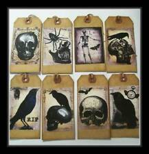 PRIMITIVE CROW AND SKULL HANG TAGS - SPIDERS TOO