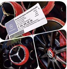 X 4 MERCEDES AMG RED WHEEL CENTER CAPS 75MM FITS A B C E M A45 CLASS C63 C43 E63