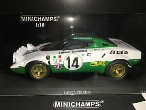 1:18 Minichamps #155 751714 Sandro Munari Lancia Stratos Monte Carlo Rally 1975