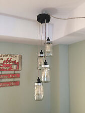 Ball industrial chandeliers ceiling fixtures ebay jar chandelier swag light sand twisted cloth cord plug in no hard wiring aloadofball Image collections