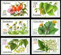 EBS East Germany DDR 1978 Medicinal Plants Arzneipflanzen Michel 2287-2292 MNH**
