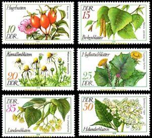EBS East Germany DDR 1978 Medicinal Plants Arzneipflanzen Michel 2287-2292 MNH**