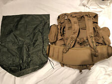 USMC FILBE Coyote complete BackPack rucksack field pack+WET WEATHER BAG &Pouches