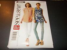 Butterick Pattern B6042 Ms EZ SEE & SEW ButtonFront Shirts w/Shaped Hem Sz 10-26