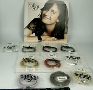 10pc Jennifer Lopez ENDLESS Jewelry Multi Color Leather Wrap Charm Bracelets
