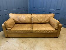 Timothy Oulton Viscount William Tan Leather Sofa - RRP £4500