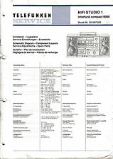 SERVICE MANUAL INSTRUCTIONS FOR TELEFUNKEN HIFI STUDIO 1/Compact 9000