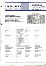 Service Manual-Anleitung für Telefunken HiFi Studio 1/Compact 9000