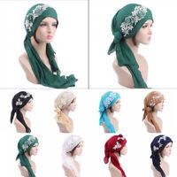chapeau lace foulard le turban musulman la chimio pac chef. fleur des hidjabs
