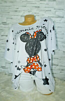 Italy New Collection Big Oversized Mickey Mouse Gr. 38 40 42 44 blogger weiß
