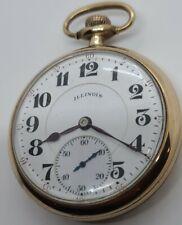 Antique 1926 ILLINOIS Bunn Special 60 Hr. Type I Railroad Grade Pocket Watch 21J