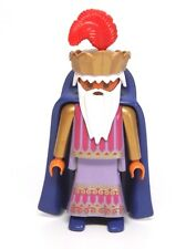 Playmobil Figure Ethnic Indian King Prince Wizard w/ Crown Cape Long White Beard