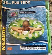 "Poolmaster 36"" Polka Dot Fun Tube Green Color  White & Green Dots"