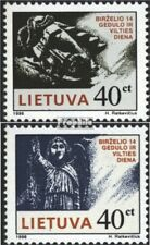 Lithuania 613-614 (complete issue) unmounted mint / never hinged 1996 Mourning