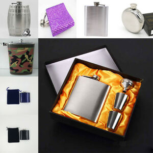 Fashion Style Stainless Steel Hip Liquor Whiskey Alcohol Flask Wine Drink Bottle