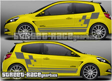Renault Clio lado Pegatinas-Clio Cup 002 calcomanías de vinilo de gráficos MK1 MK2 MK3