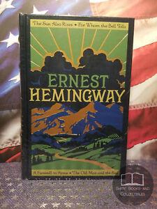 NEW SEALED Ernest Hemingway (4) Four Novels - Bonded Leather Collector Hardcover