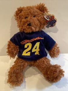2005 NASCAR Jeff Gordon #24 Teddy Bear Stuffed Animal 8 in. Team Speed Beans