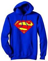 Superman 52 Symbol Blue Hoodie Sweatshirt