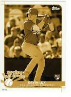 Gavin Lux 2020 Topps Opening Day Spring has Sprung 5x7 Gold #SHS-25 /10 Dodgers