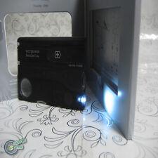 【v7333T3】Victorinox SwissCard Lite 82mm LED Light 13 clever functions - Black