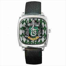 NEW* HOT HARRY POTTER HOGWARTS SCHOOL SLYTHERIN Square Metal Watch Gift