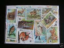 TIMBRES ANIMAUX / TIMBRES WWF : 75 TIMBRES TOUS DIFFÉRENTS / ANIMALS STAMPS WWF