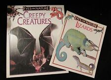 Eyes on Nature Creepy Creatures hard cover and Lizards science home school