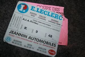 Rare ticket )) AJA AUXERRE V BESIKTAS J.K  ISTAMBUL - Coupe europe C2 1994/95