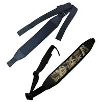 Adjustable Tactical Padded Rifle Sling No Swivel Neoprene Shotgun Belt Strap