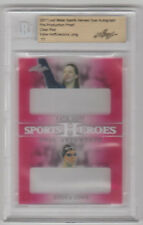 KATIE HOFF / JESSICA LONG 2017 Leaf Metal Sports Heroes CLEAR RED 1 of 1 BGS 1/1