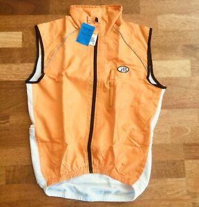 KB Cycling Vest Wind & Waterproof Fabric Mens Medium Orange